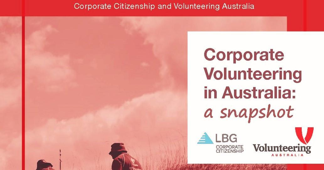 Corporate Volunteering in Australia: a snapshot