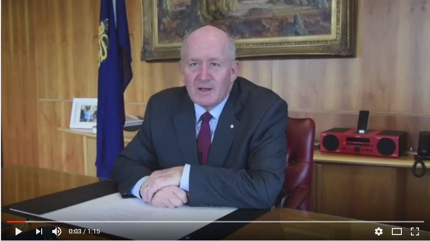 Governor General video message