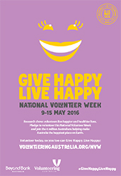 Volunteer today posters NVW2016-3