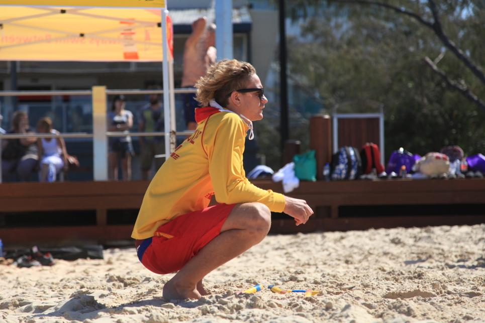 Young Surf Life Saving Australia volunteer at work